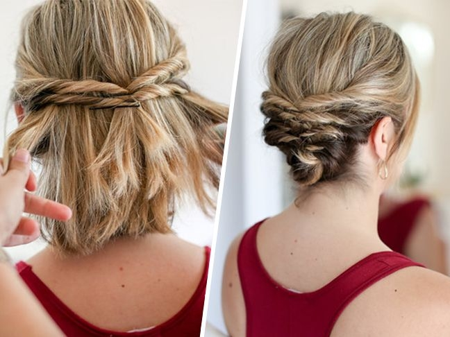 Awesome this quick messy updo for short hair is so cool short hair Up Hair Styles For Short Hair Choices