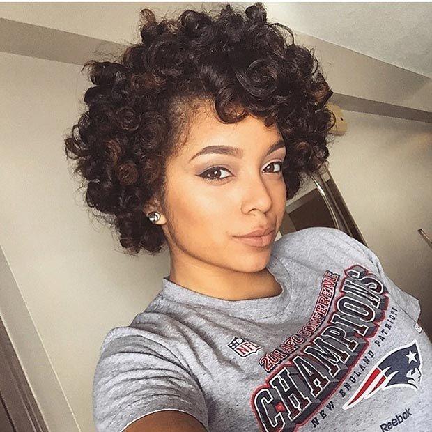 Elegant 50 short hairstyles for black women stayglam natural African American Hairstyles Curls