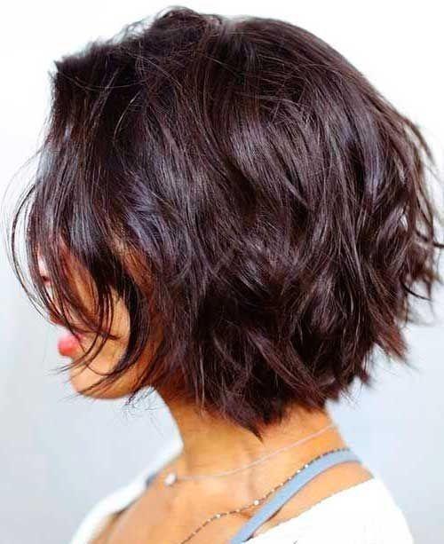 Stylish dark short layers short hair with layers hair styles 2017 Short Layered Hairstyles For Thick Hair Pinterest Choices