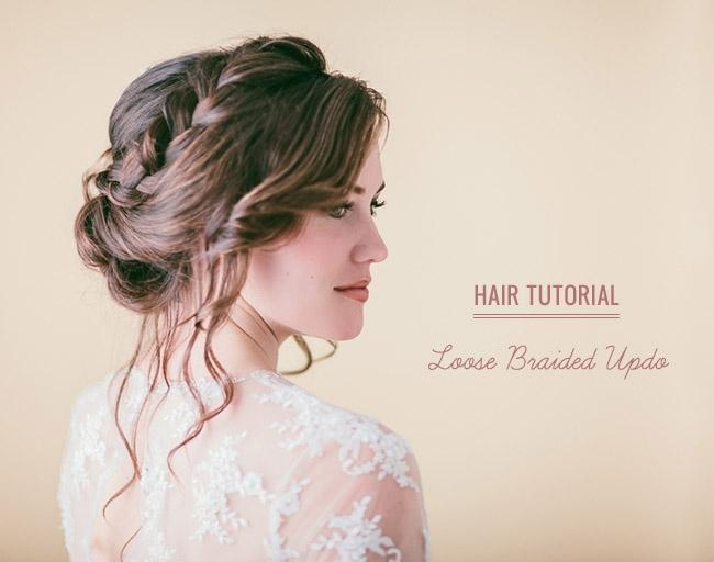 Stylish hair tutorial loose braided updo Loose Braid Updo Long Hair Inspirations