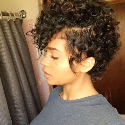 Awesome 35 cute hairstyles for short curly hair girls Short Curly Black Hair Styles Choices