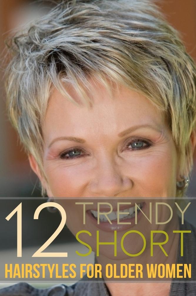 Best 12 trendy short hairstyles for older women you should try Older Woman Short Hair Styles Ideas