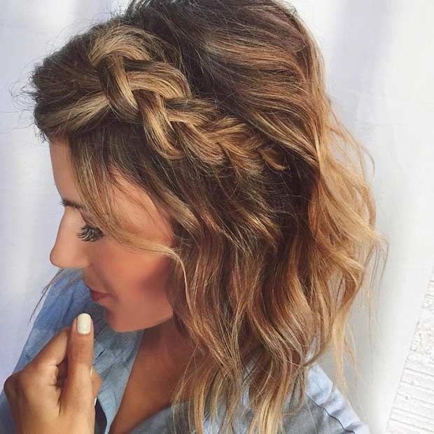 Elegant 17 chic braided hairstyles for medium length hair stayglam Braided Hairstyles For Medium Length Hair With Layers Choices