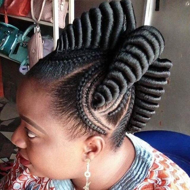 straight up braids hairstyles for pretty african ladies Straight Up Cornrows Hairstyles