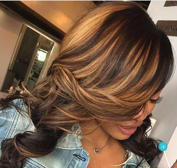 Stylish blonde highlights hair styles honey blonde hair hair African American Honey Blonde Hairstyles