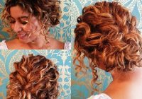 21 cute updos for short hair 2018 page 8 of 21 Cute Updo Styles For Short Curly Hair Ideas