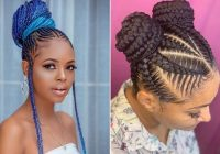 23 braided bun hairstyles for black hair stayglam Bun Styles With Braiding Hair Inspirations