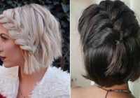 23 quick and easy braids for short hair stayglam Plait Styles For Short Hair Choices
