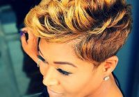 35 best short hairstyles for black women 2017 African American Short Hairstyles With Color Designs