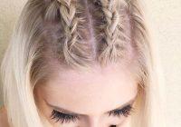 35 cute braided hairstyles for short hair lovehairstyles Braiding Styles For Short Hair Ideas