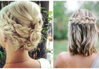 Awesome 27 braid hairstyles for short hair that are simply gorgeous Hairstyles For Short Straight Hair Braids Choices