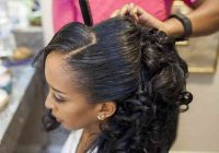 Awesome 30 modern wedding hairstyles for black women weddingwire African American Wedding Hairstyles Half Up And Half Down Designs