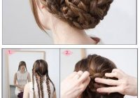 Awesome 40 braided hairstyles for long hair Long Hair Braided Updo Tutorial Ideas