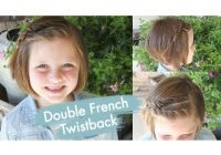 Awesome double french twistback short hair cute girls hairstyles Pretty Hair Styles For Short Hair Inspirations