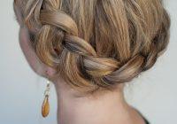 Awesome dutch crown braid simple casual dutch braid updo Dutch Braid Updo Long Hair Inspirations
