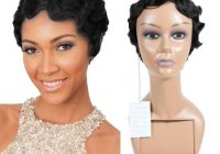 Awesome hot item short finger wave retro style wigs short pixie cut human hair wig Human Hair Wigs Short Styles Choices