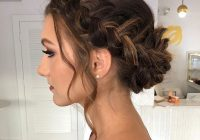 Awesome this gorgeous braided updo is perfect for holiday parties Wedding Prom Hairstyle For Long Hair. Braided Updo Ideas