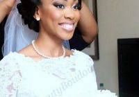 beautiful wedding updo for african american bride african African American Bride Hairstyles Designs