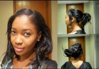 Best easy heatless hairstyles relaxed hair short or medium Hairstyles For Relaxed African American Hair Ideas