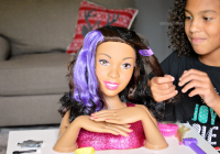 Cozy gifting the joy of barbie about a mom African American Doll Head Hair Styling