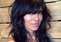 Cozy medium black layered hairstyle with bangs haircuts for African American Layered Hairstyles With Bangs Ideas