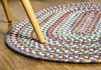 Cozy super area rugs american made braided rug for indoor outdoor spaces bluenatural multi colored 2 x 3 oval American Made Braided Rugs