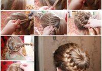 diy unique braided bun hairstyle Braided Hair Bun Styles Inspirations