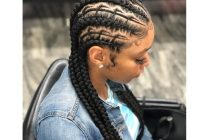 Elegant 30 beautiful fishbone braid hairstyles for black women New Hairstyles Braids Straight Back For Black Gals Choices