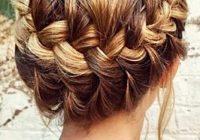Elegant 30 charming braided hairstyles for short hair checopie Cute Braiding Hair Styles Choices
