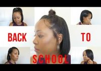 Elegant 9 heatless back to school hairstyles for relaxed and Cute Hairstyles For Short Relaxed Hair Choices
