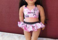 Elegant american girl doll grace thomas inspired paris print bathing Cute Hairstyles For American Girl Doll Grace Ideas