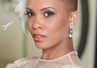 Elegant bald bride short bridal hair short wedding hair natural Short Black Hairstyles For Weddings Ideas