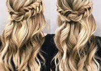 Elegant braid half up half down hairstyle hair styles long hair Half Up Half Down Braided Hairstyles Pinterest Inspirations