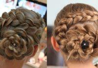 Elegant dutch flower braid updo hairstyles cute girls hairstyles Dutch Braid Updo Long Hair Inspirations