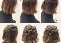Elegant prom hairstyles for short straight hair cute hairstyles Hairstyles For Short Straight Hair Braids Ideas