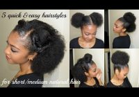 Fresh 5 quick easy hairstyles for shortmedium natural hair Quick Updos For Short Black Hair Choices