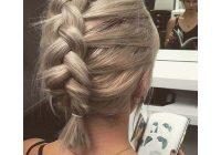 Fresh 73 stunning braids for short hair that you will love Easy Fishtail Braid For Short Hair Ideas