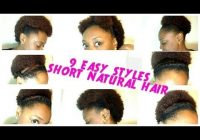 Fresh 9 back to school hairstyles for short natural hair the Quick Updos For Short Black Hair Inspirations