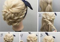 Fresh easy tutorial for rope braided updo hairstyles 2017 dinga Long Hair Braided Updo Tutorial Ideas