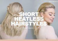 Fresh heatless hairstyles for short hair blog milk blush Hair Extensions For Short Hair Styles Inspirations