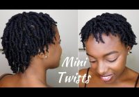 Fresh how to super juicy mini twists on short 4c natural hair Twist Styles For Short Hair Choices