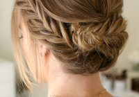 pretty summer hairstyles for long hair easy braided updos Braided Updo Hairstyle For Long Hair Inspirations