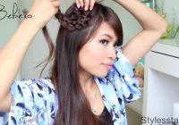 rosette flower braid hairstyle for medium long hair tutorial Rosette Flower Braid Hairstyle For Medium Long Hair Tutorial Ideas