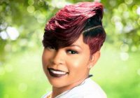 short and sassy hairstyle for black women from amber mcclain African American Short Hairstyles With Color Ideas