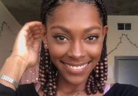 small goddess braids with wooden beads transitioning Goddess Braid For Short Natural Hair Inspirations