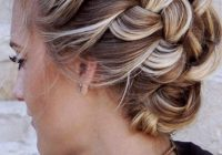 Stylish 27 terrific shoulder length hairstyles to make your look Braided Updo Hairstyles For Medium Hair Choices