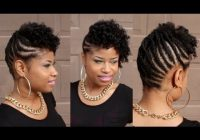 Stylish pin m c on hair and makeup short natural hair styles Braid Updo For Short Black Hair Inspirations