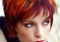 Stylish pin on hairstyle Short Spiky Red Hair With Blonde Highlights Ideas