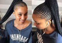 Stylish trending braids styles for black women braided ponytail Latest Trending Braids Hairstyles Inspirations