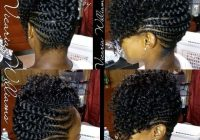 Stylish up do plait styles braided hairstyles updo braided mohawk African Hair Braiding Styles Updos Ideas